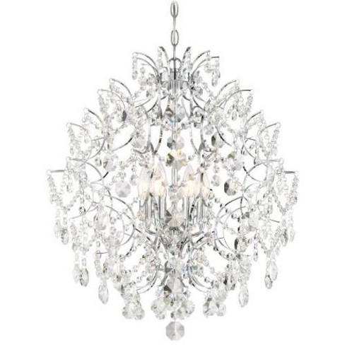 Minka Lavery 3157 Isabella S Crown 6 Light Chandelier With Crystal Accents Chrome Target