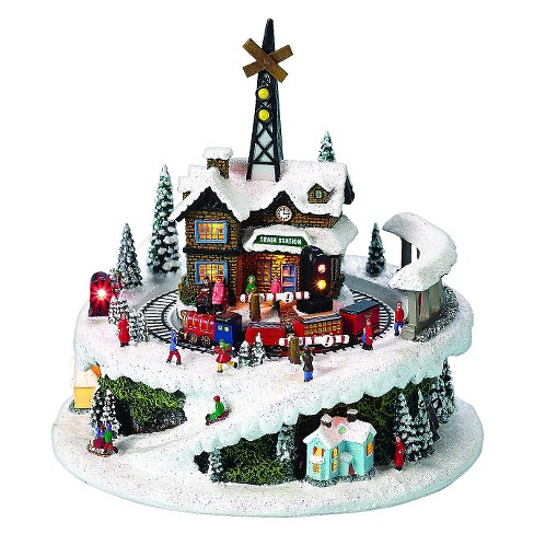 Winter Radio Tower Scene Holiday Figurine - image 1 of 1