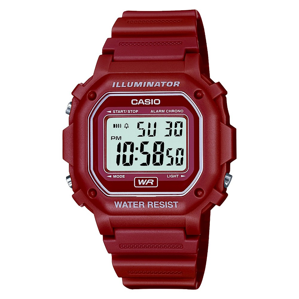 Image of Casio Digital Watch - Glossy Red, Women's