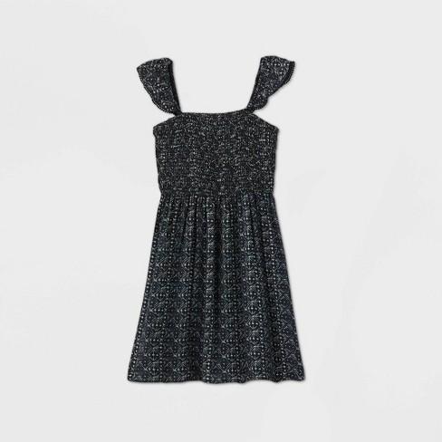 Girls' Flutter Sleeve Smocked Dress - art class™ - image 1 of 2