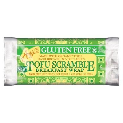 Amy's Gluten Free Vegan Tofu Scramble Frozen Breakfast Wrap - 5.5oz
