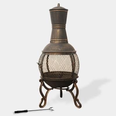 Cast Iron Chimenea - Bronze - leisurelife
