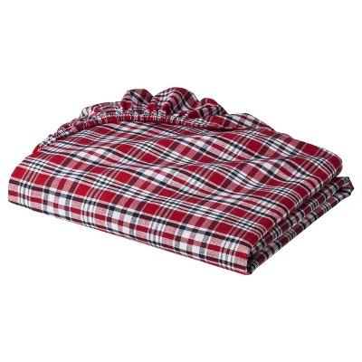 Bacati Boys' Red Plaid Crib Sheet