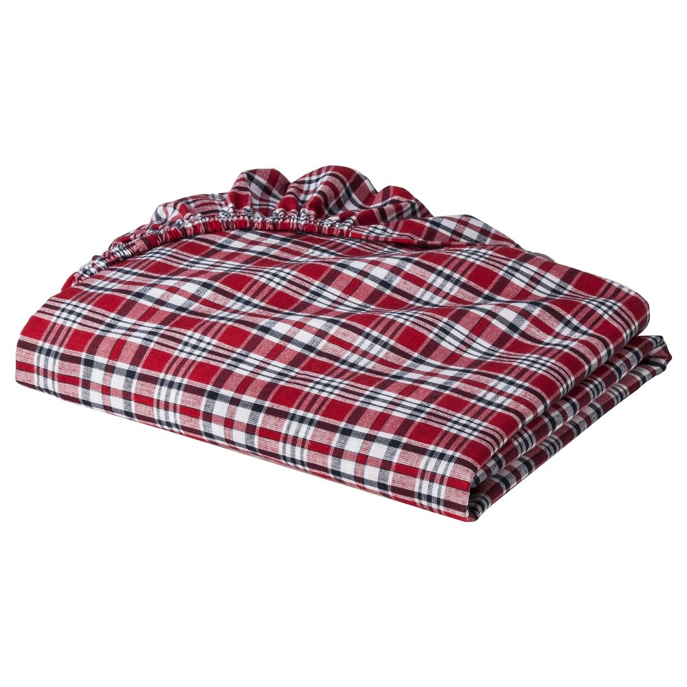Image of Bacati Boys' Red Plaid Crib Sheet, Boy's