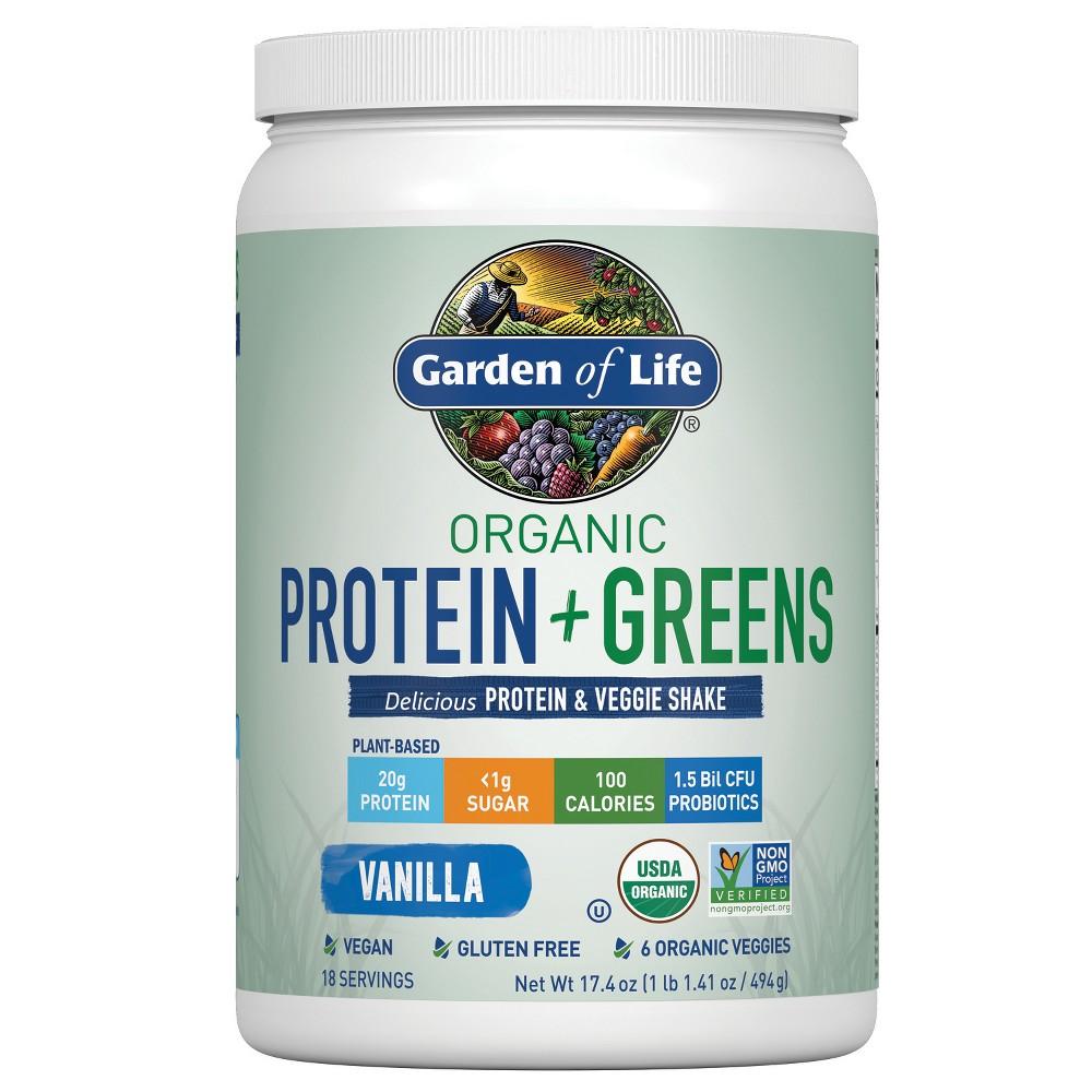 Garden of Life Organic Protein + Greens Shake Mix - Vanilla - 17.4oz