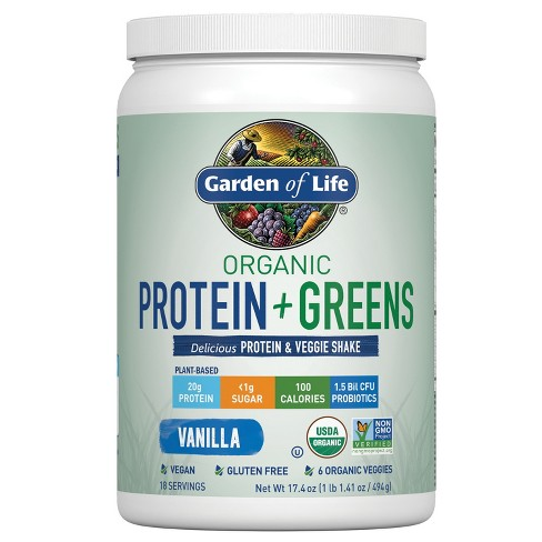 Garden of Life Organic Vegan Protein + Greens Shake Mix - Vanilla - 17.4oz - image 1 of 4