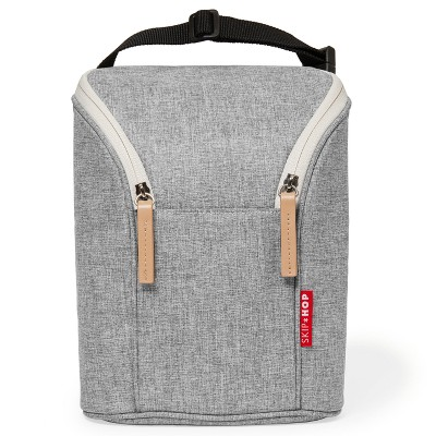 Skip Hop Grab & Go Double Bottle Bag - Gray Melange