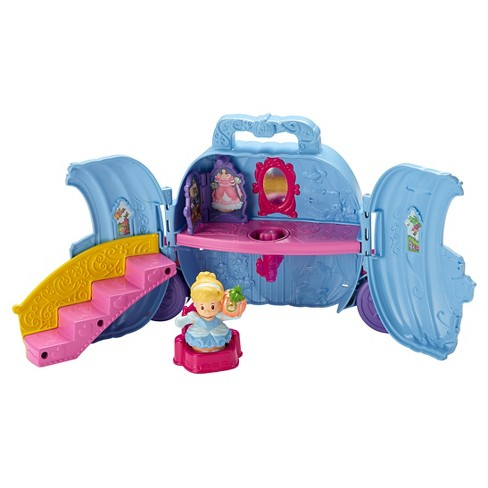 Disney Princess Cinderella's Fold 'n Go Carriage by Little People - image 1 of 6