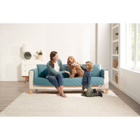 Reversible Sofa Furniture Protector with Arms - Sure Fit - image 1 of 3