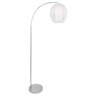 Deion Floor Lamp Brushed Nickel (Includes CFL Light Bulb) - Lite Source