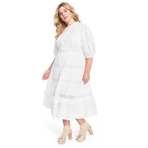 Women's Phoebe Button-Up Dress - LoveShackFancy for Target (Regular & Plus) White - image 1 of 4