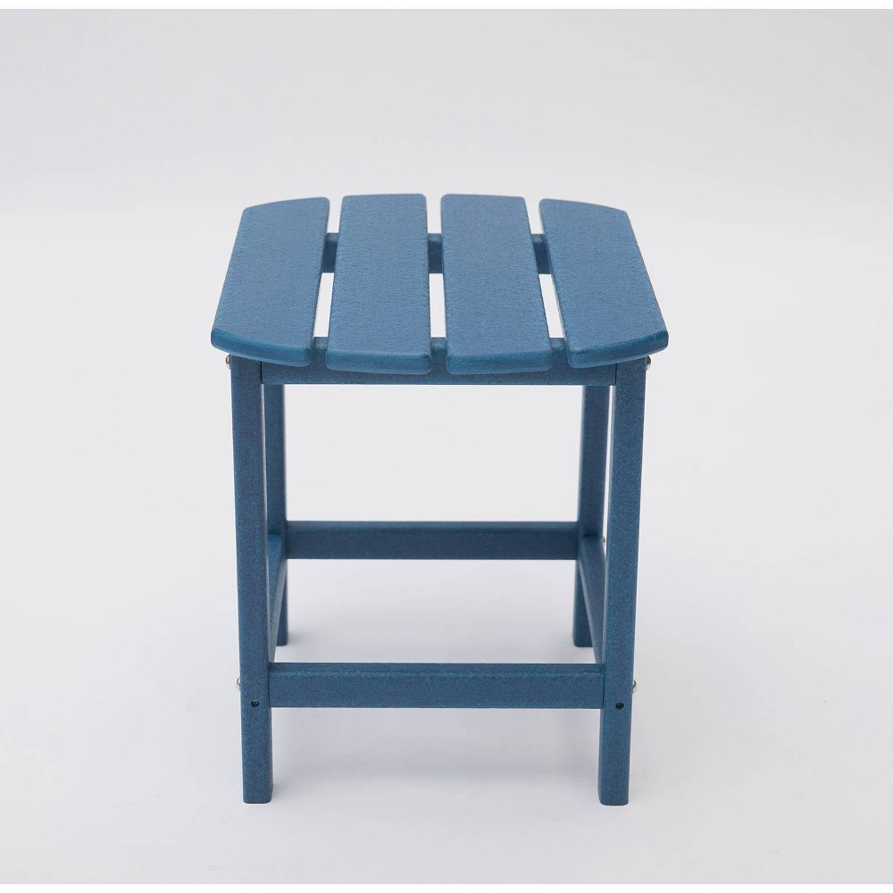 "Image of ""Corona 18"""" Recycled Plastic Side Table - Navy - LuXeo"""