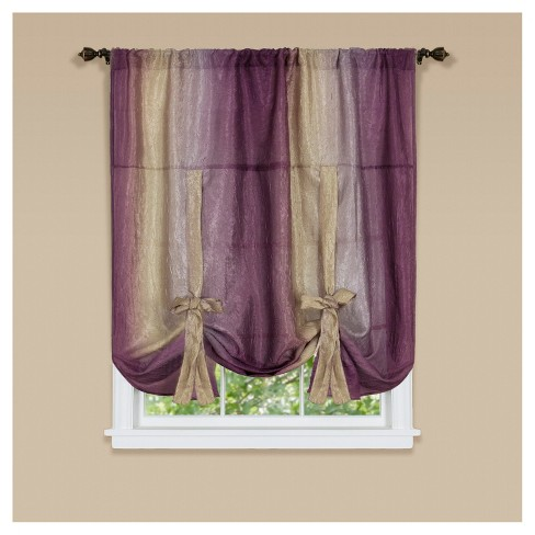 "Ombre Window Curtain Tie Up Shade (50""x63"") - Achim - image 1 of 1"