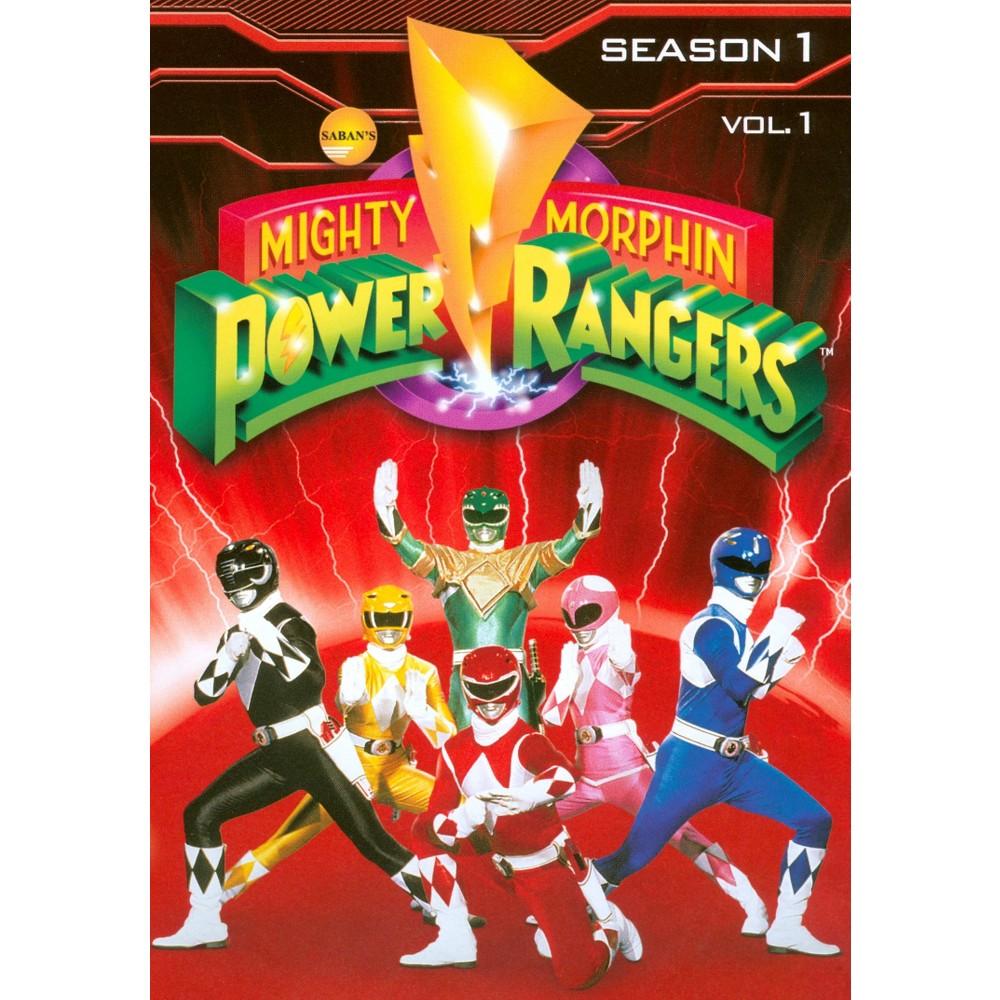 Mighty Morphin Power Rangers Season 1 Vol 1 Dvd