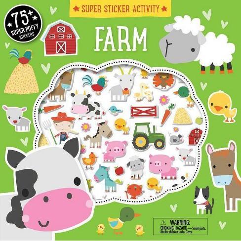 Super Sticker Activity: Farm - (Paperback) - image 1 of 1
