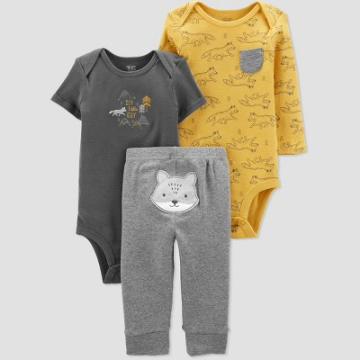 Baby Boys' 3pc Fox Top & Bottom Set - Just One You® made by carter's Yellow 6M