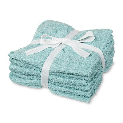 6pk Washcloth Aqua - Room Essentials™