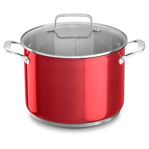 KitchenAid 8qt Stainless Steel Stockpot with Lid - KC2S80SC - image 1 of 3