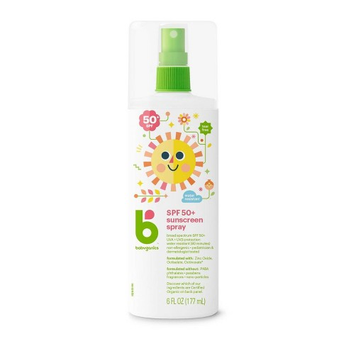 Babyganics Mineral-Based Baby Sunscreen Spray, SPF 50 - 6oz - image 1 of 4