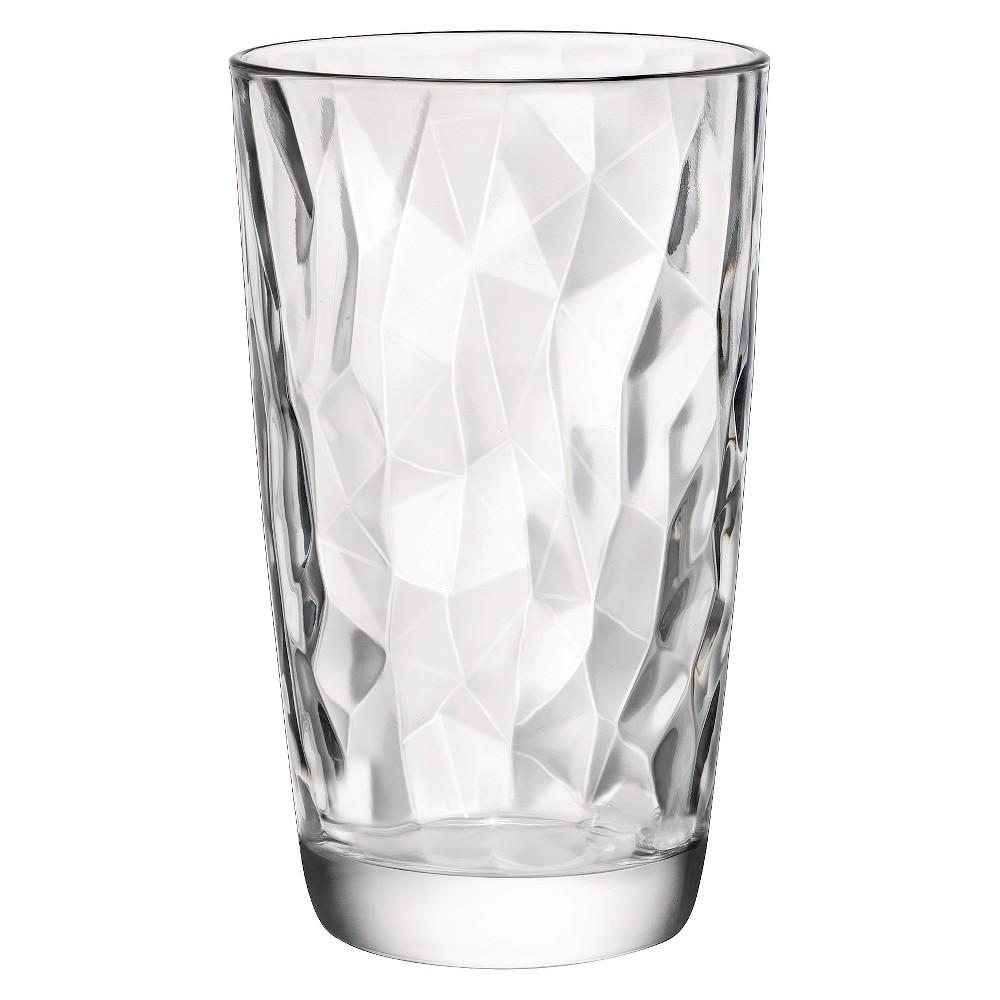 Image of Bormioli Rocco Diamond Cooler 16oz Set of 6 - Clear