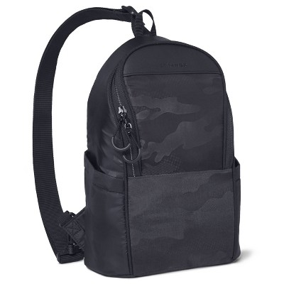 Skip Hop Diaper Bag Backpack Easy-Access Crossbody Sling Paxwell - Black Camo