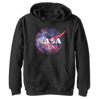 Boy's NASA Mix Galaxy Style Logo Pull Over Hoodie