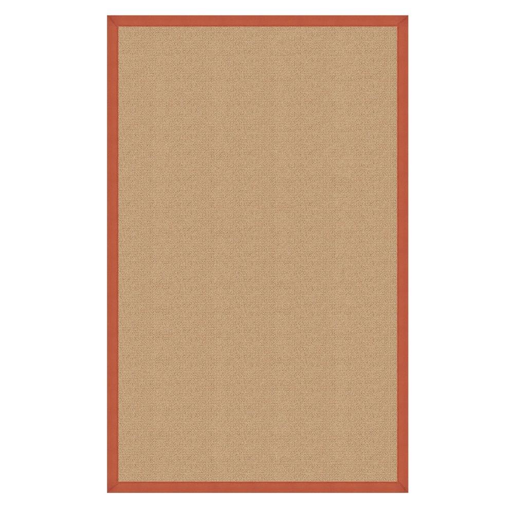 9 39 10 34 X13 39 Athena Sisal Wool Area Rug Orange Linon