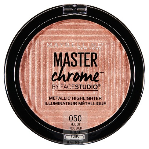 Maybelline Facestudio Master Chrome Metallic Highlighter Molten Rose Gold- 0.24oz - image 1 of 4