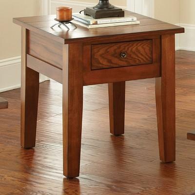 Desoto End Table Red Oak   Steve Silver