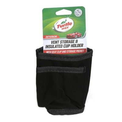 Turtle Wax Vent Storage/Insulated Cup Holder - Black