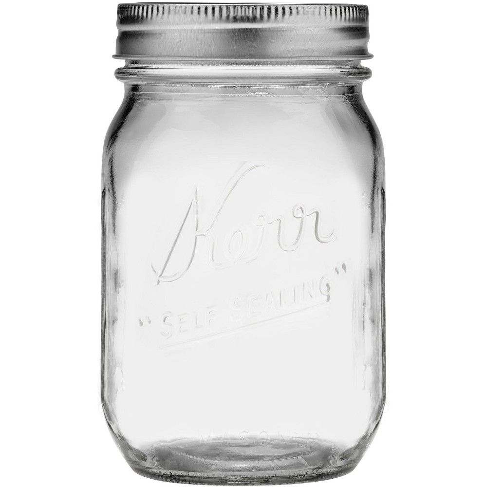 Image of Kerr 1 Pint Glass Jar - Regular Mouth, Clear