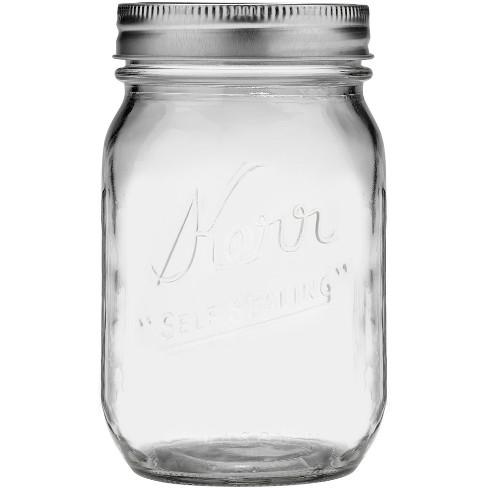 Kerr 1 Pint Glass Jar - Regular Mouth - image 1 of 3