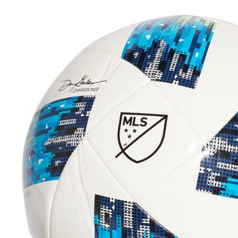 178b082d Adidas MLS Glider Soccer Ball - White/Solar Blue