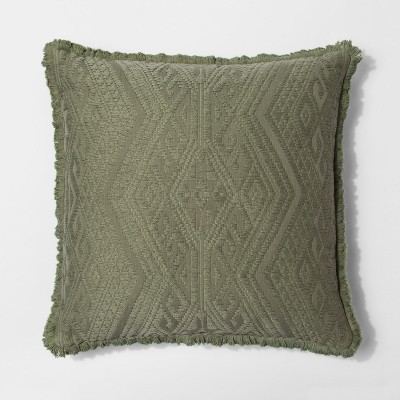 Green Global Texture Oversize Square Throw Pillow - Threshold™