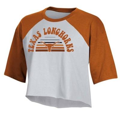 NCAA Texas Longhorns Women's Short Sleeve Cropped T-Shirt