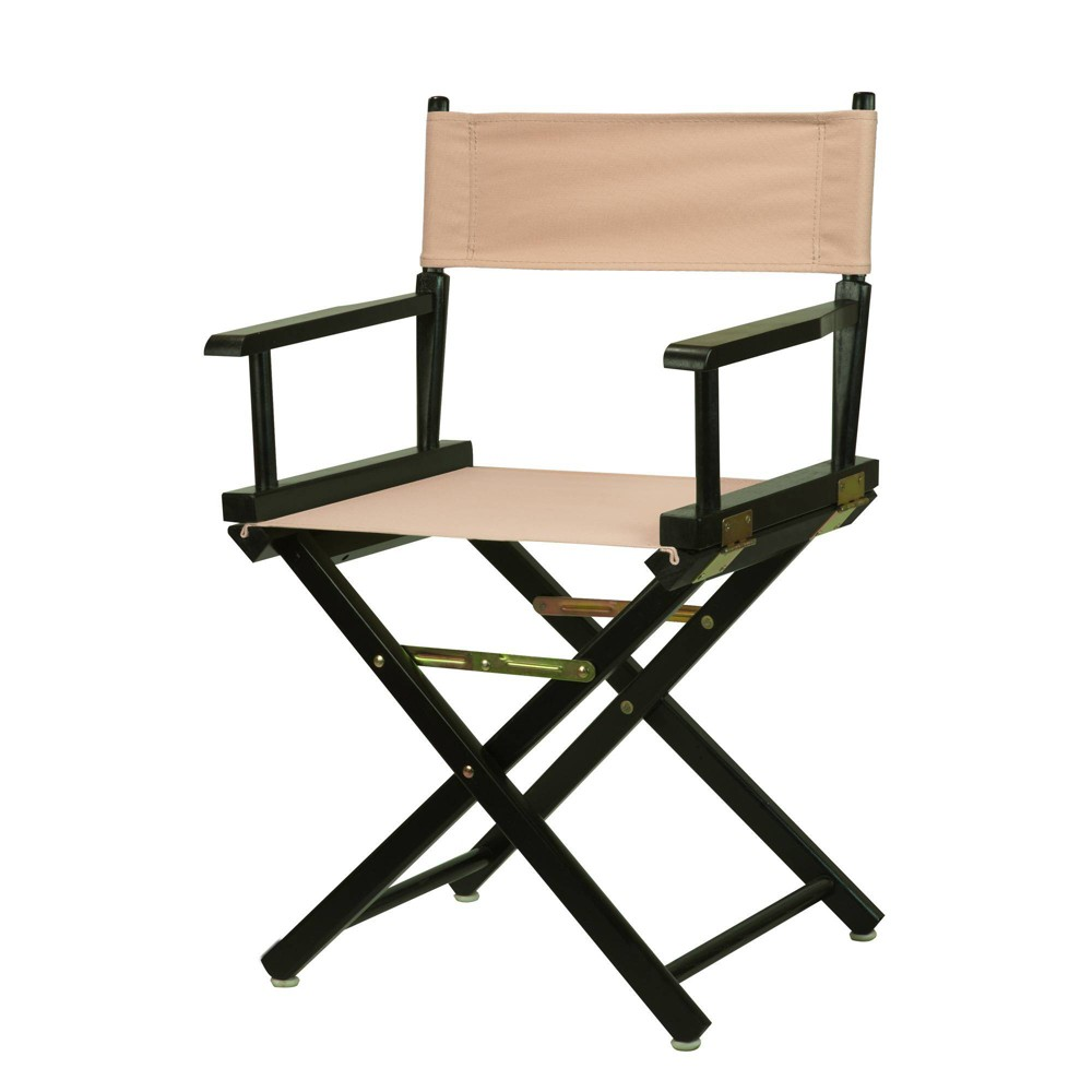 Director S Chair With Black Frame And Tan Canvas