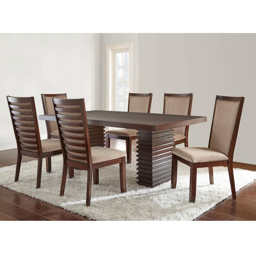 7pc Balton Dining Set Briana Chairs Camel - Steve Silver