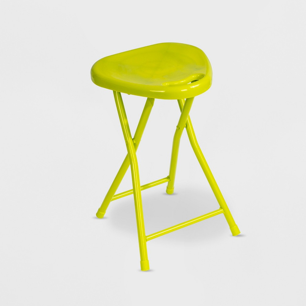Folding Stool with Handle Lime (Green) (Set of 4) - urb Space
