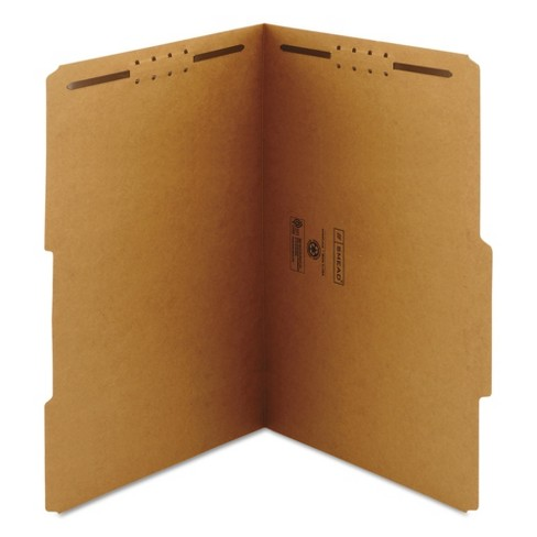 Smead® 11 x 14 Kraft 11 Point 2/5 Cut Right Top Tab Folders with Two Fasteners- Brown (50 Per Box) - image 1 of 4