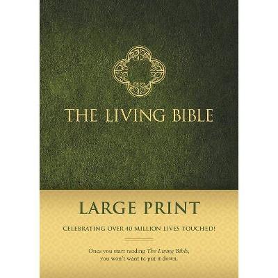 Living Bible Paraphrased-LIV-Large Print - (Hardcover)