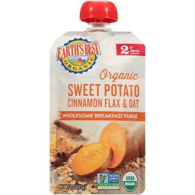 Earth's Best Organic Sweet Potato Cinnamon Flax & Oat Baby Meals - 4oz