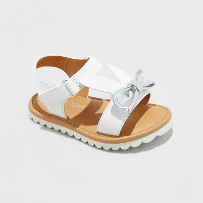 Toddler Girls' Calandra Slide Sandals - Cat & Jack™ White 2