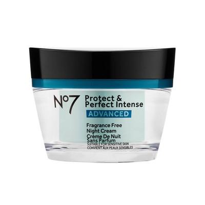 No7 Protect & Perfect Intense Advanced Fragrance Free Night Cream - 1.69 fl oz