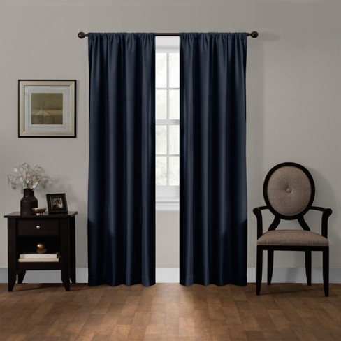"Julius Blackout Smart Curtain Panel Navy Chest 50""x84"" - Maytex - image 1 of 6"