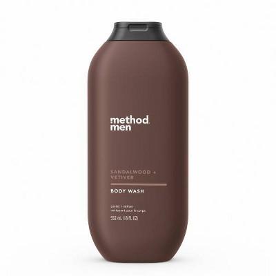 Method Men's Body Wash Sandalwood + Vetiver - 18 fl oz