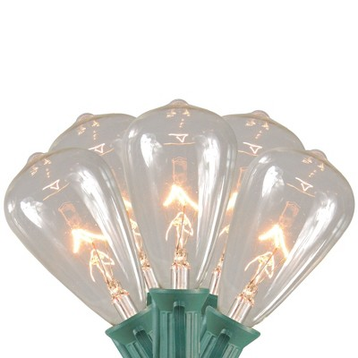 Northlight 10ct Edison Style Glass Christmas Lights Clear - 9' Green Wire