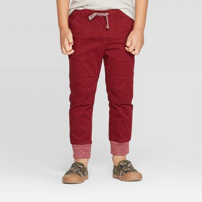 Toddler Boys' Pull-On Pants - Cat & Jack™ Berry Maroon 2T