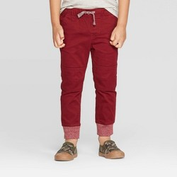 Toddler Boys' Pull-on Pants - Cat & Jack™ Berry Maroon