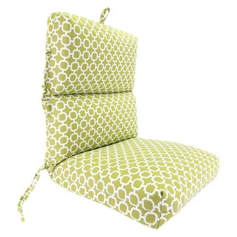 Outdoor Universal Chair Cushion Green White Geometric Target