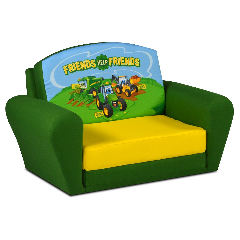 Johnny Tractor Sweet Dreamer Pull-Out Sleep-Sofa - Green & Yellow - John Deere